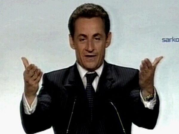 Nicolas Sarkozy - Won 53% of the vote