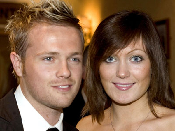 Nicky Byrne pictured with his wife Georgina