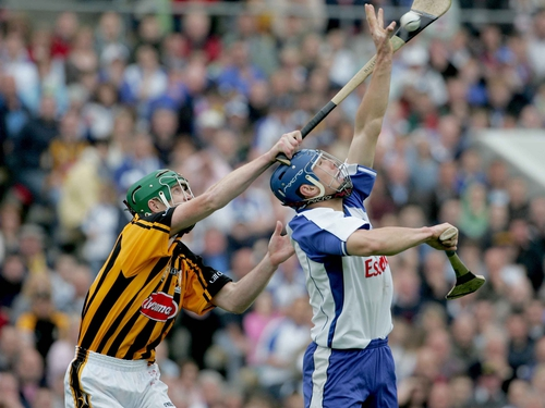 Henry Shefflin (pictured with Declan Prendergast) scored 12 points for Kilkenny but it wasn't enough