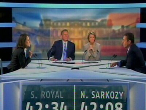French election - Heated television debate