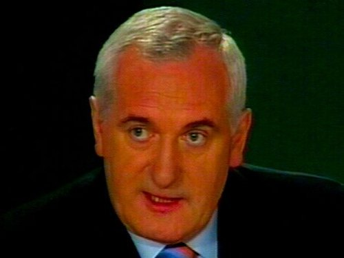 Bertie Ahern - Paddy Power paying out on him to be Taoiseach