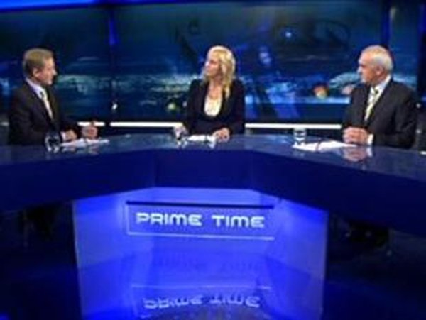The Big One - Miriam O'Callaghan moderates the only debate between Taoiseach Bertie Ahern and Fine Gael leader Enda Kenny