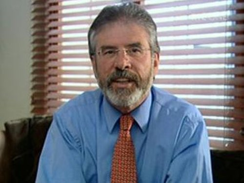Gerry Adams - Driver not under treat