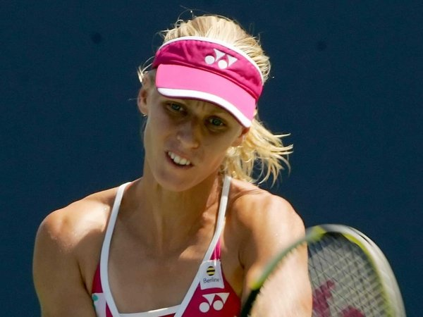 Elena Dementieva was brushed aside by her Polish opponent
