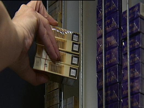 Cigarettes - Included in ban on tobacco advertising in shops