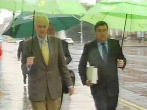 Gormley & Boyle - Arriving for talks