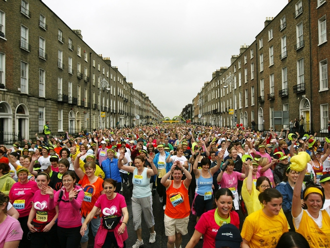 Over 40,000 women braved the conditions to raise millions of euro for various causes