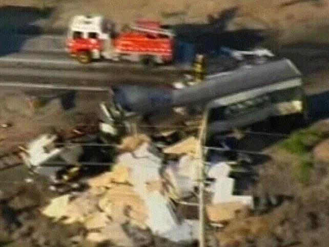 Australia - Large truck hit passenger train