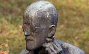 Bronze replica of James Joyce
