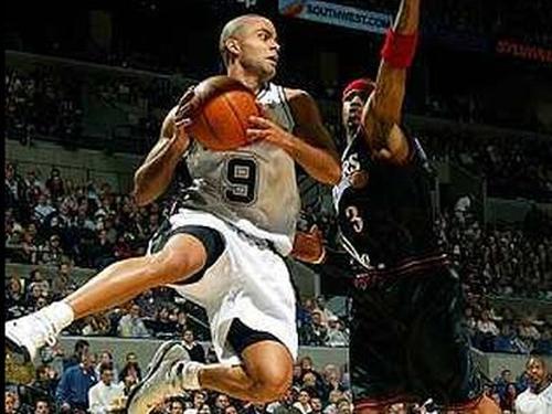 cc4d4e30131 Tony Parker outshone LeBron James as the San Antonio Spurs took the NBA  Finals opener