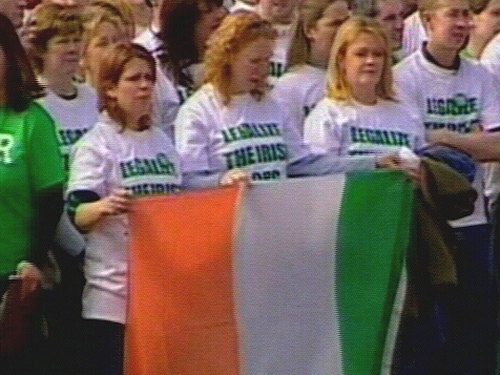 Irish immigrants - Group calling for help in their efforts