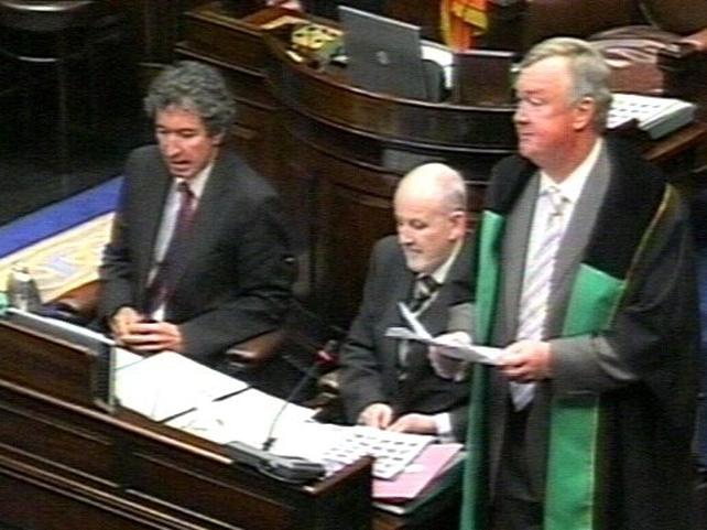 John O'Donoghue - Elected Ceann Comhairle