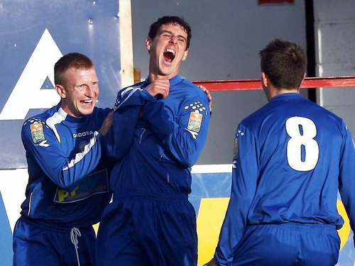 Vinny Sullivan scored Waterford United's second goal at the Showgrounds