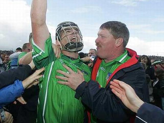 Mark O'Riordan celebrates Limerick's victory