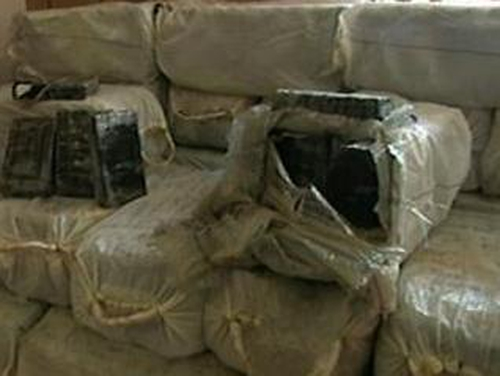 Cocaine - €107m worth of drugs found