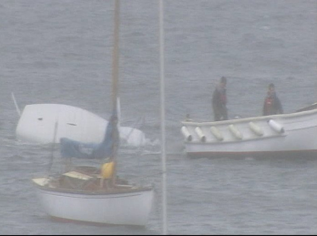 Boats - High winds capsized 12 vessels
