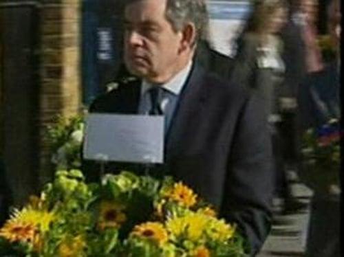 Gordon Brown - Laid wreath at ceremony