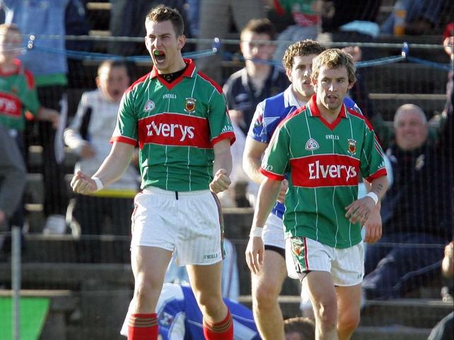 Mayo's Barry Moran celebrates his goal