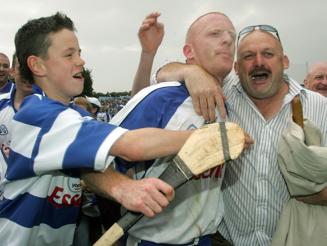 Waterford's John Mullane is mobbed by fans after the final whistle
