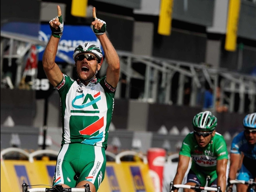 Thor Hushovd had a successful day in France