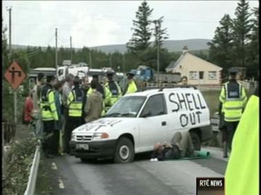 Did Shell give the Gardai alcohol?
