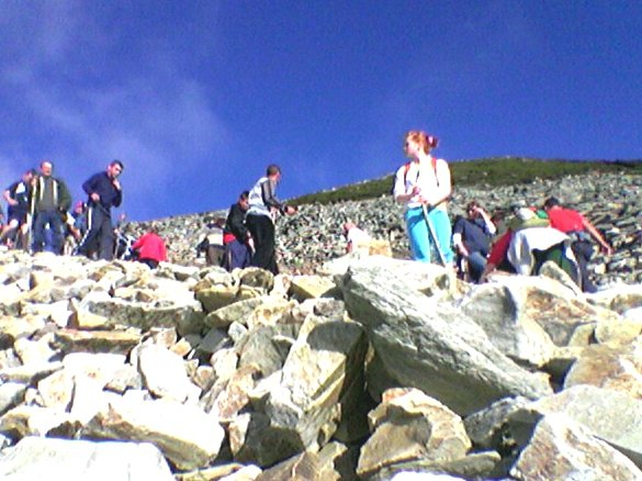 Croagh Patrick - Pilgrims began the climb from early morning