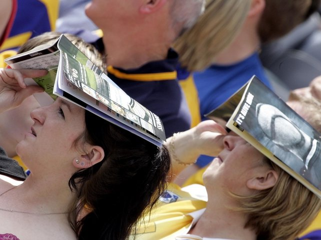 Fans feel the heat in the rare Irish sunshine