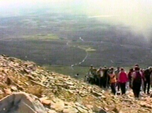 Croagh Patrick - Around 30k people climbed