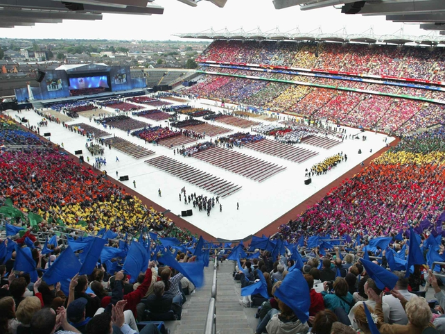 The Special Olympics Opening Ceremony, 21 June, 2003.