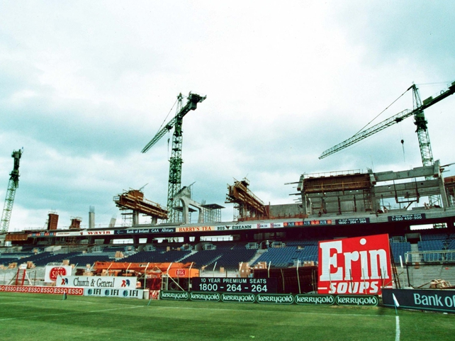 The Cusack Stand, June 1994.