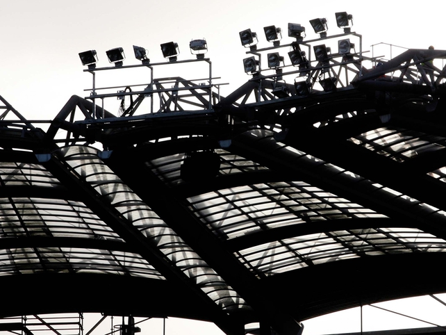 A view of the new floodlights, November 2006.