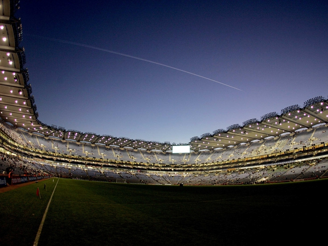 Before the floodlights were switched on for a match for the first time at Croke Park, 3 February 2007.