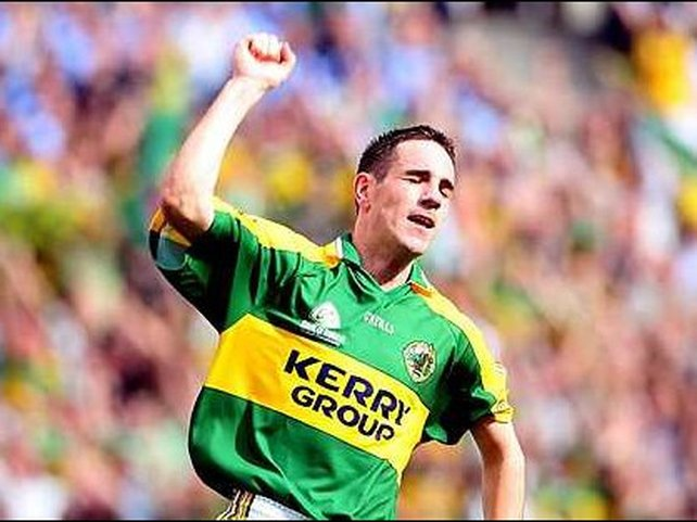 Kerry captain Declan O'Sullivan celebrates after his goal