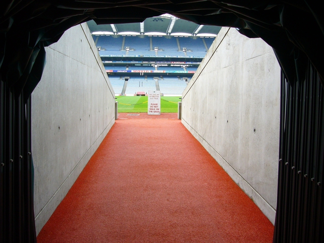 The players' tunnel.