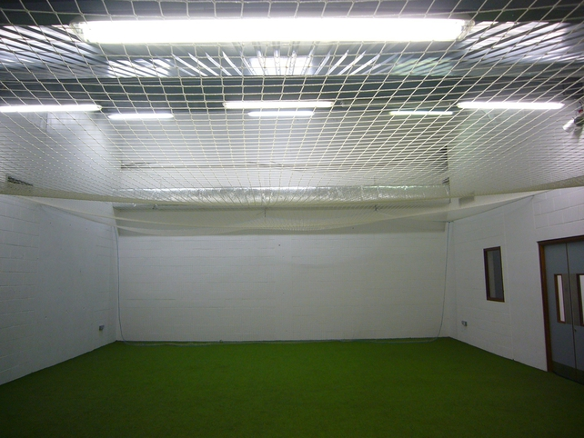 One of the warm-up areas attached to the dressing rooms in the Hogan Stand.