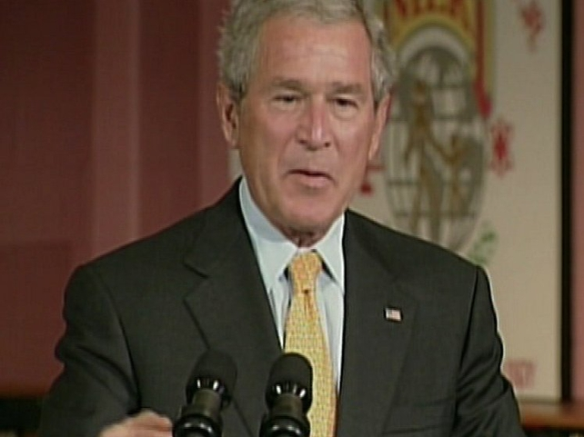 George Bush - 'Resolution not the right response to mass killings'