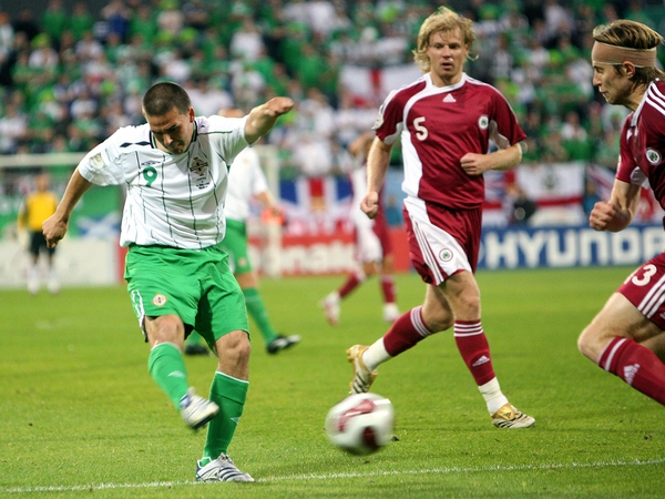 David Healy's scoring record at international level compares favourably with the best strikers on the planet