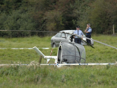 Ballycumber - Two hurt in helicopter crash