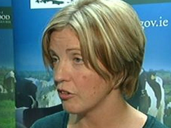 Mary Coughlan - In Brussels for talks on trade