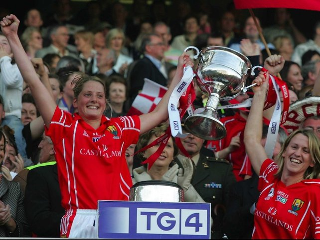 Cork's Juliette Murphy and Mary O'Connor lift the silverware