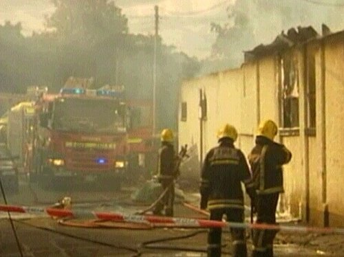 Bray - Roof collapsed at factory