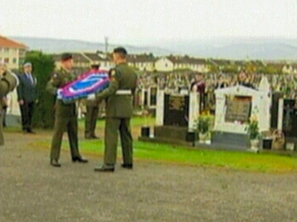 Ceremony in Dublin - To remember soldiers