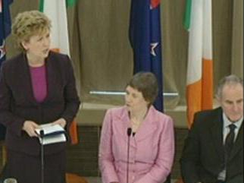 Mary McAleese and Helen Clark - State visit to New Zealand