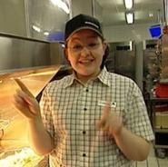 Caroline in McDonalds