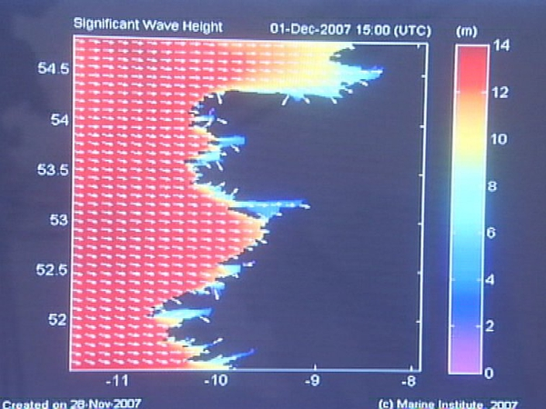 Marine Institute - Waves could reach 14m