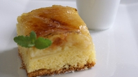 Mary's Apple Cake - Make this fluffy cake with warm custard.