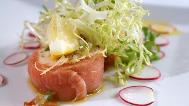 Organic Smoked Salmon with Salmon Mousse