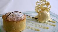 Warm Apple Tart and Vanilla Ice - Cream - A warming apple tart with homemade ice-cream.