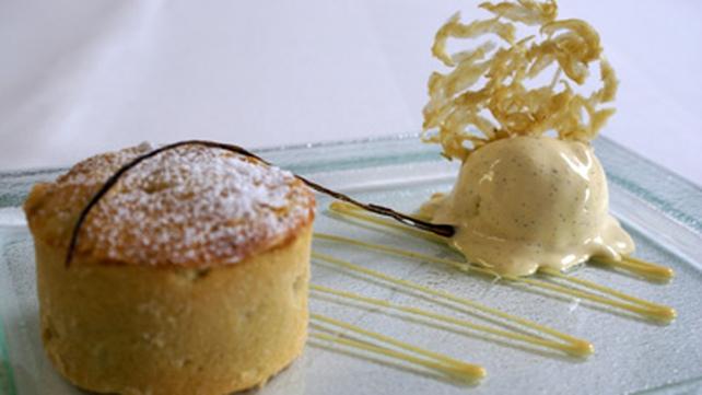 Warm Apple Tart and Vanilla Ice - Cream