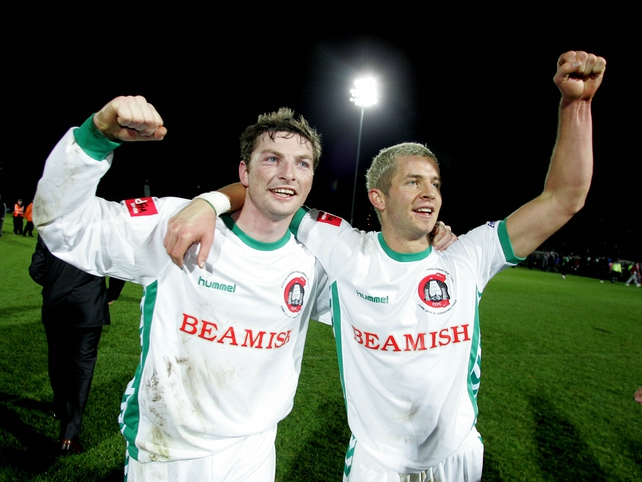 Denis Behan & John O'Flynn celebrate at the end of this year's final